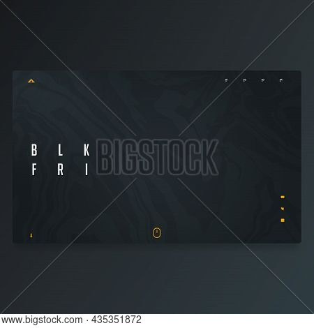 Abstract Background Landing Page Template Design For Black Friday Sale. Banner For Website, Interfac