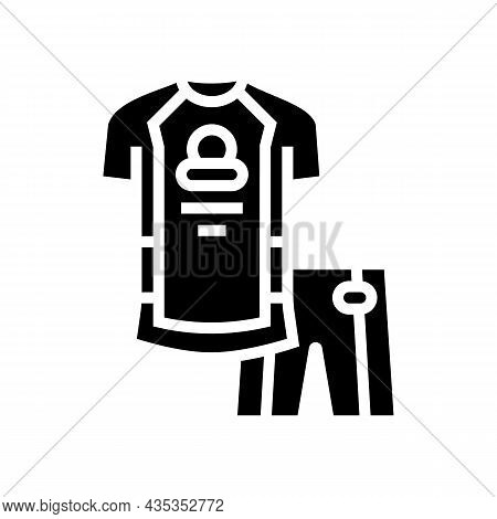 Riding Cloth For Bike Rider Glyph Icon Vector. Riding Cloth For Bike Rider Sign. Isolated Contour Sy