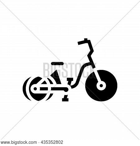 Tricycle Bicycle Type Glyph Icon Vector. Tricycle Bicycle Type Sign. Isolated Contour Symbol Black I