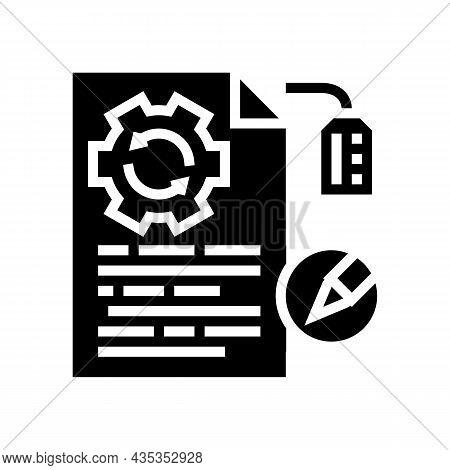 Brand Development Copywriting Glyph Icon Vector. Brand Development Copywriting Sign. Isolated Contou