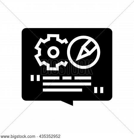 Content Create Glyph Icon Vector. Content Create Sign. Isolated Contour Symbol Black Illustration