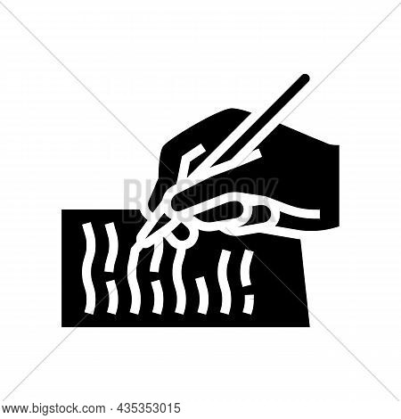 Writing Letter Glyph Icon Vector. Writing Letter Sign. Isolated Contour Symbol Black Illustration