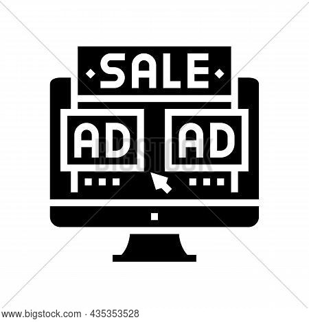 Sales Promotion Glyph Icon Vector. Sales Promotion Sign. Isolated Contour Symbol Black Illustration