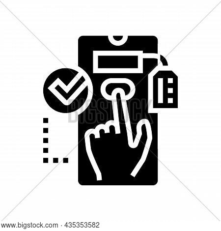 Choosing Product Glyph Icon Vector. Choosing Product Sign. Isolated Contour Symbol Black Illustratio