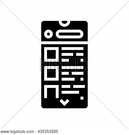 Commerce Application Glyph Icon Vector. Commerce Application Sign. Isolated Contour Symbol Black Ill