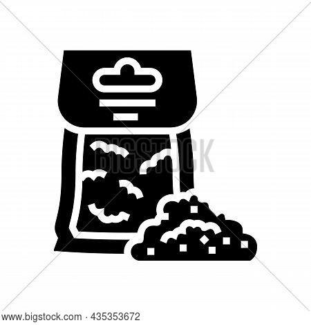 Rye Flour Bag Glyph Icon Vector. Rye Flour Bag Sign. Isolated Contour Symbol Black Illustration