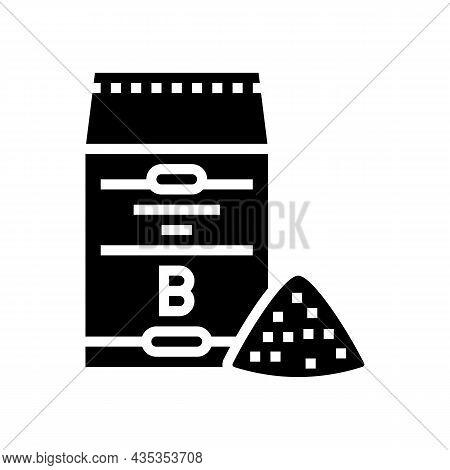 Barley Flour Bag Glyph Icon Vector. Barley Flour Bag Sign. Isolated Contour Symbol Black Illustratio