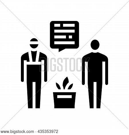 Personal Shopper Glyph Icon Vector. Personal Shopper Sign. Isolated Contour Symbol Black Illustratio