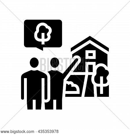 Home Consultations Glyph Icon Vector. Home Consultations Sign. Isolated Contour Symbol Black Illustr