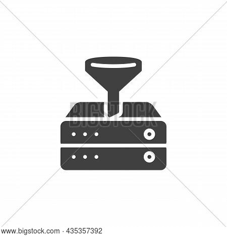 Data Filtering Vector Icon. Filled Flat Sign For Mobile Concept And Web Design. Filtering Database S
