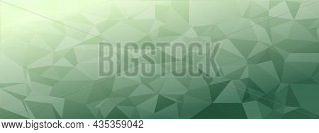 Low Poly Abstract Modern Background. Delicate Colors Chaotic Triangles Variable Size And Rotation. M