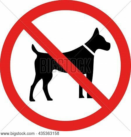 No Dogs Allowed Sign. Forbidden Signs And Symbols.