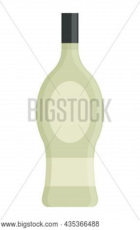 Alcoholic Colorful Bottle Illustration. Alcohol Cocktail Drink Icon. Bar Menu Flat Vector Logo. Colo