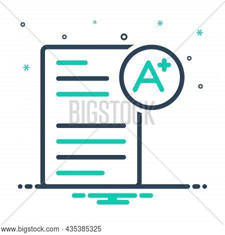 Mix Icon For Qualification Merit Ability Eligibility Talent Aptitude Achievement Degree
