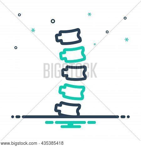Mix Icon For Spine Backbone Spinal-column Vertebrae Orthopedic