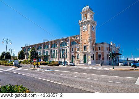 Acquario Marino Marine Aquarium Building In Trieste View, Capital Of The Autonomous Region Friuli-ve