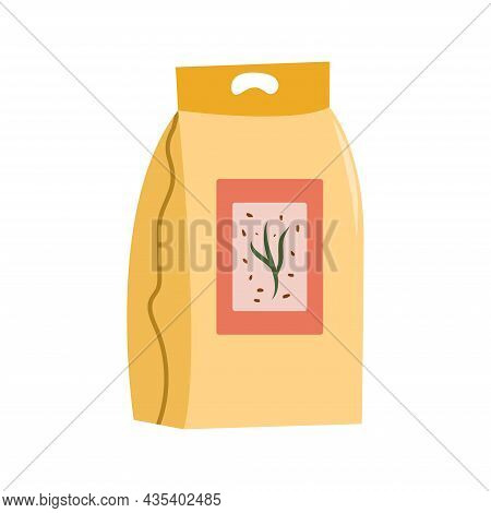 Sowing Seeds. Garden Package Of Seeds. Isolated Vector Illustration On White Background.