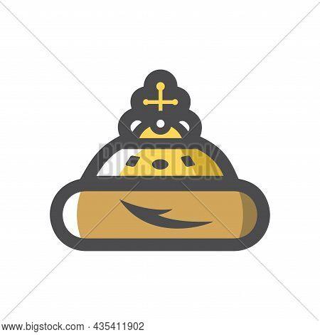 Russian Tzar Hat Vector Icon Cartoon Illustration