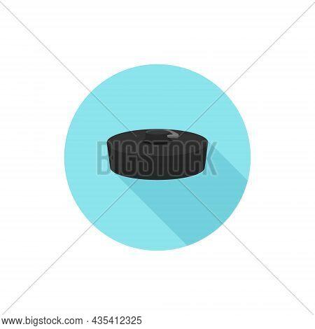 Bath Plug Simple Flat Design Vector Blue Background