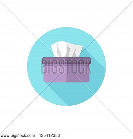 Flat Design Tissue Box. Vector Illustration Simple Icon