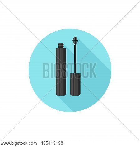 Flat Design Open Mascara. Vector Illustration Simple Icon