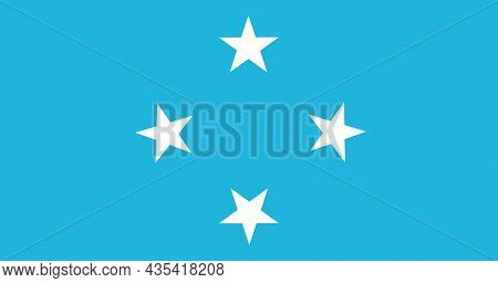 The National Flag Of Micronesia Consists Of 600 Islands In The Pacific Ocean Made Up Of Four States