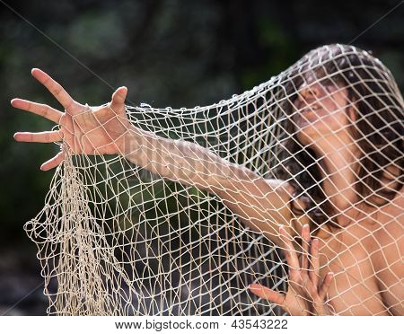 Woman In The Net