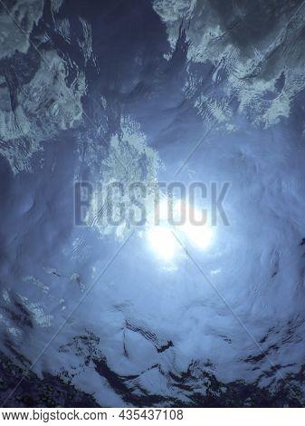 Underwater Sunlight Through Water Surface, Underwater Background