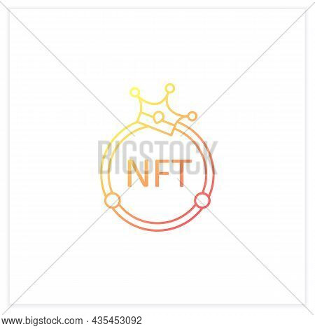 Nft Gradient Icon. Non Fungible Token. Unique Digital Assets. Assets Exist In Their Own Cryptosystem