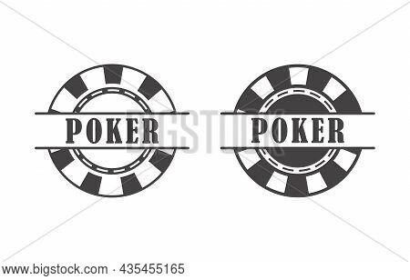 Poker Chip Queen, Texas Holdem, Clubs Playing Card, Gambling, Casino Betting. Design Logo Template.