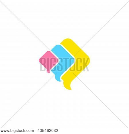 Simple Colorful Flying Kites Symbol Logo Vector