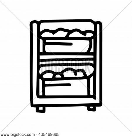 Laundry Sorting Basket Line Vector Doodle Simple Icon