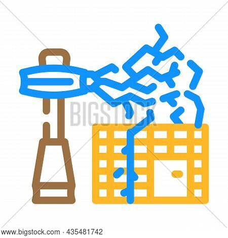 Electromagnetic Equipment Color Icon Vector. Electromagnetic Equipment Sign. Isolated Symbol Illustr
