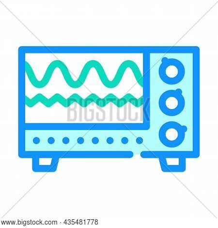 Electromagnetic Waves Checking Equipment Color Icon Vector. Electromagnetic Waves Checking Equipment