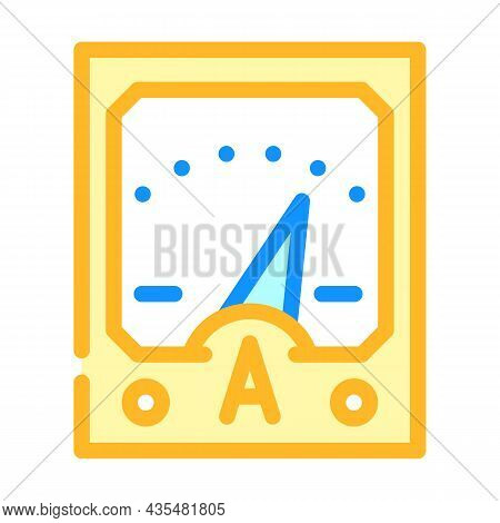 Ammeter Tool Color Icon Vector. Ammeter Tool Sign. Isolated Symbol Illustration