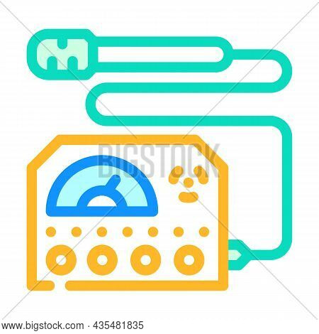Electromagnetic Wave Meter Color Icon Vector. Electromagnetic Wave Meter Sign. Isolated Symbol Illus