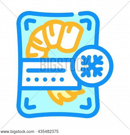 Shrimp Frozen Seafood Color Icon Vector. Shrimp Frozen Seafood Sign. Isolated Symbol Illustration