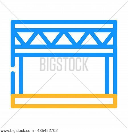Stage Metal Frame Color Icon Vector. Stage Metal Frame Sign. Isolated Symbol Illustration
