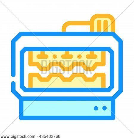 Metal Part Production Machine Color Icon Vector. Metal Part Production Machine Sign. Isolated Symbol