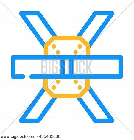 Construction Metallic Part Color Icon Vector. Construction Metallic Part Sign. Isolated Symbol Illus