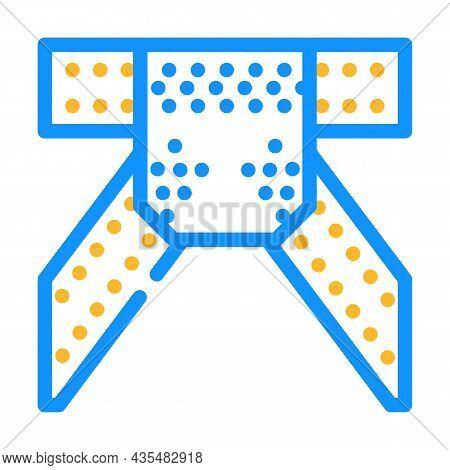 Metal Structure Construction Part Color Icon Vector. Metal Structure Construction Part Sign. Isolate