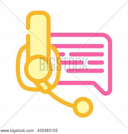 Online Support Advice Color Icon Vector. Online Support Advice Sign. Isolated Symbol Illustration