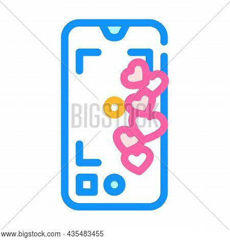 Likes Online Social Media Color Icon Vector. Likes Online Social Media Sign. Isolated Symbol Illustr
