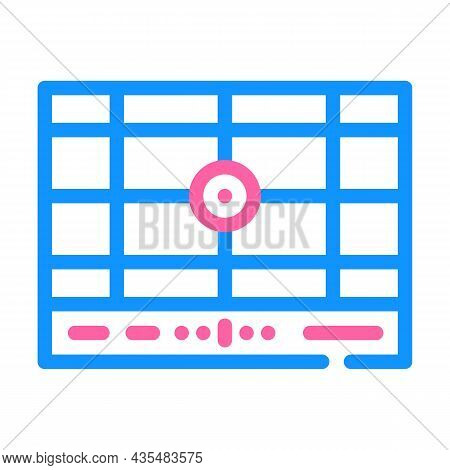 Dividing Grid Color Icon Vector. Dividing Grid Sign. Isolated Symbol Illustration