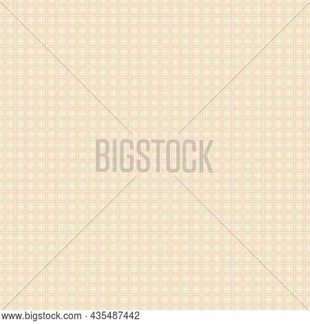 Checker Seamless Pattern. Stock Vector Illustration. Hand Drawn