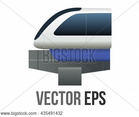 Vector Gradient Blue Man Restroom Circle Icon Button With Iconography Of Man And Woman