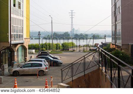 Irkutsk, Russia - July 28, 2021 View Of The Angara River. Editorial.
