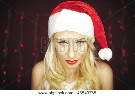 Blonde Christmas Girl