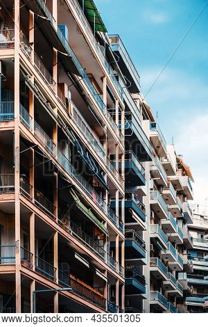 Typical architecture in Thessaloniki city, Greece