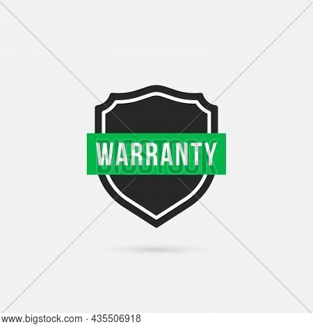 Simple Black Shield Like Warranty Logo. Concept Of Reliable Protection Of Personal Data And Quality